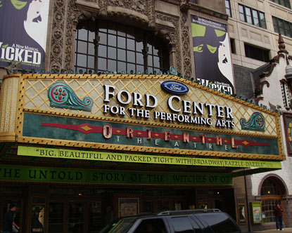 Chicago Oriental Theater  Ford Center Chicago