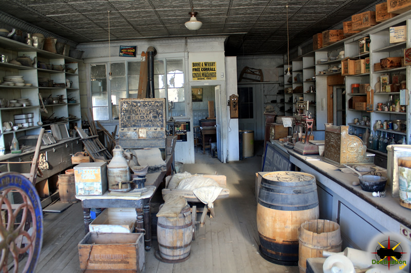The interior of a general store is virtually the way it was when the store owner left Bodie, Photograph by James L Rathbun