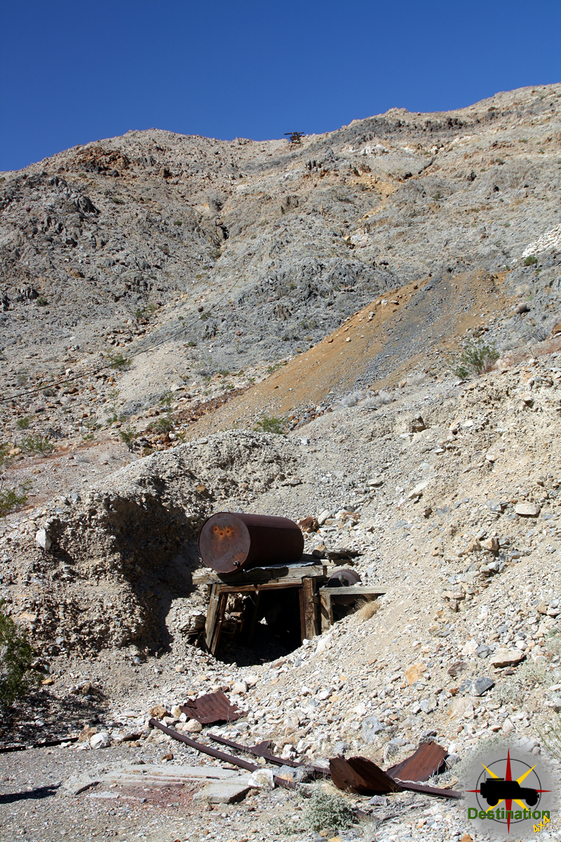 Ubehebe Mine with tramway visible at the top of the hill, Death Valley, CA