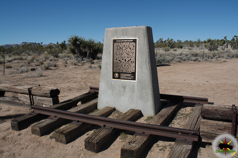 The railroad monument along the Old Mojave Road in the Mojave National Preserve.
