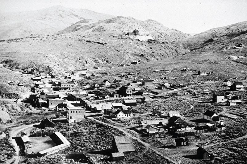 Aurora, Nevada as it existed in the 1800s