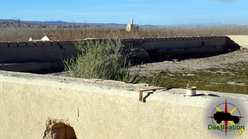 St Thomas Ghost Town is accessible with lower water levels in Lake Mead, Lake Mead National Recreation Area, Nevada