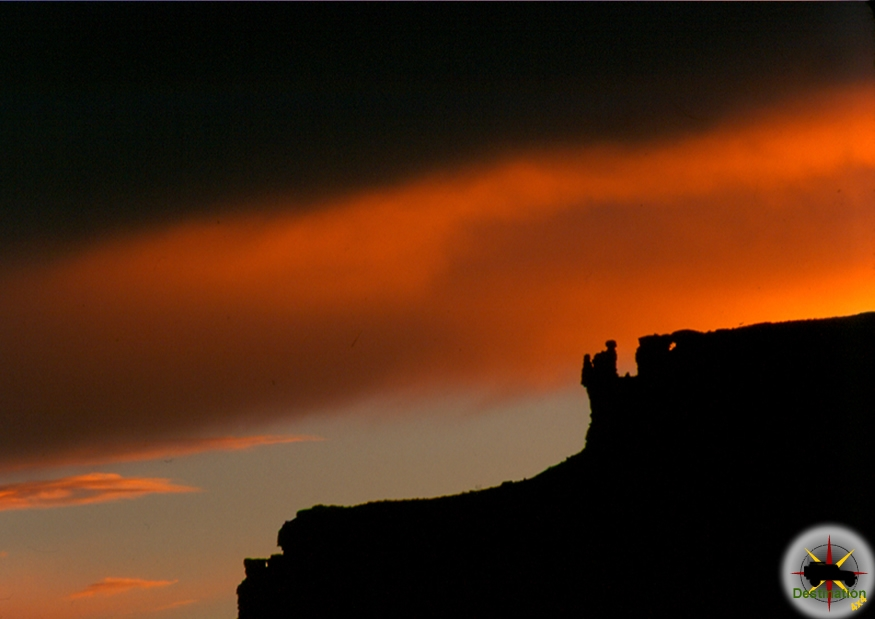 Sunset along the White Rim Trail in Canyonlands NP, Utah Photograph by James L Rathbun