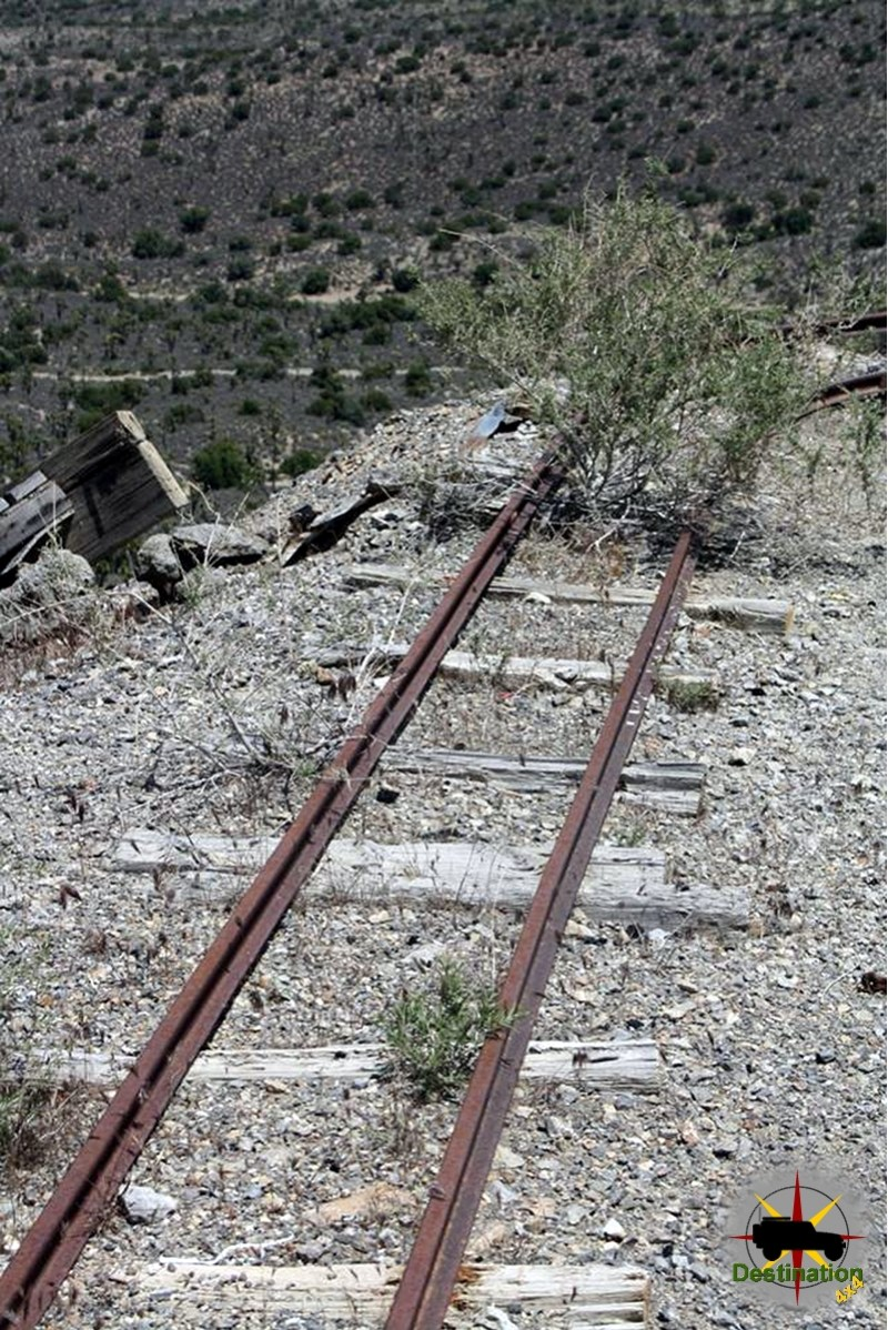 These mine cart rails are a little small to pull the amount of gold claimed to be here.