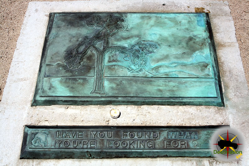 You have found what your looking for monument located at the site of U2s Joshua Tree.