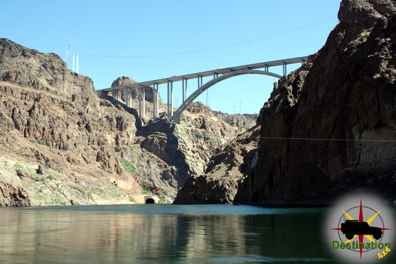 The Hoover Damn bypass under construction about 2010.