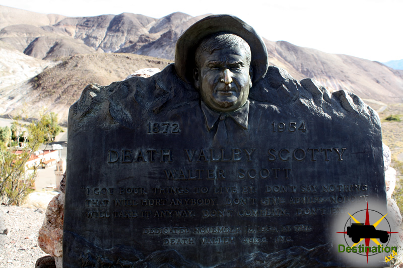 "Water ""Death Valley Scotty"" Scott's grave overlooks the Death Valley Ranch"