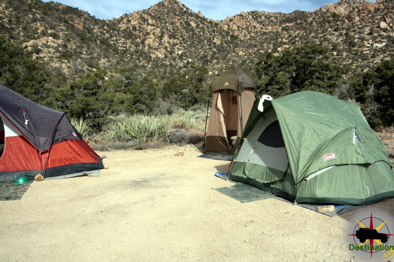 There are no restrooms at Camp Phallus in Caruthers Canyon