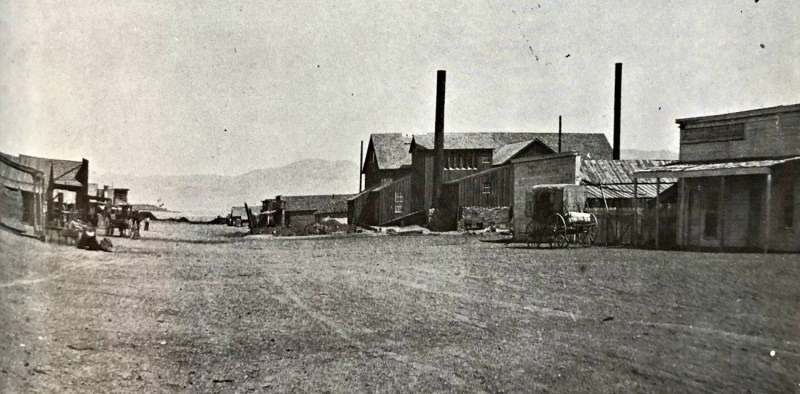 Downtown Columbus, Nevada, late 1870's.