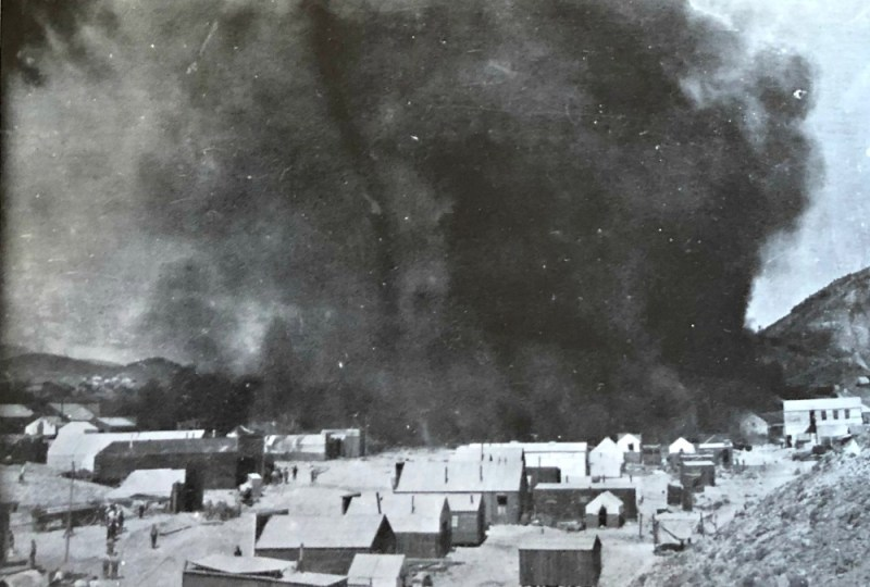 Sept. 4, 1908. Devastating fire in Rawhide Nevada. Over $1 million in property damage and thousands were left homeless.