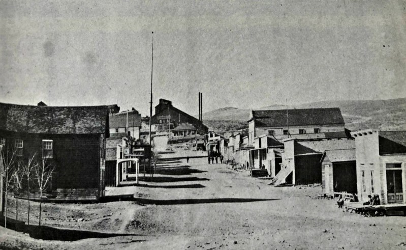 Main street buildings of Candelaria, probably in the early 1880s