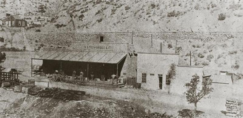 The Trowridge General Store in Tybo Nevada - 1881