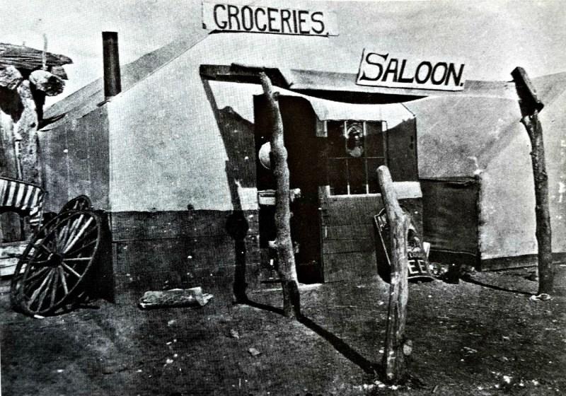 Tent business in Palmetto, 1906