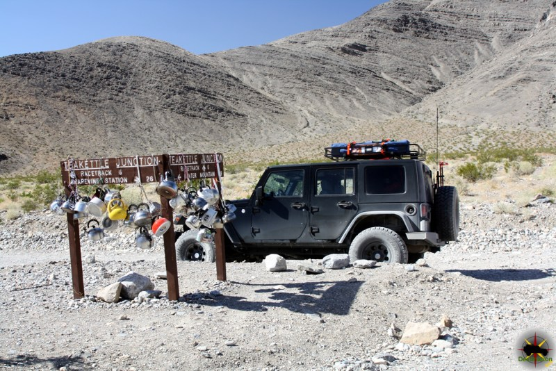 Hunter Mountain Road start at Teakettle Junction in Death Valley National Park