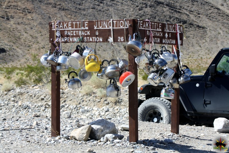 Teakettle Junction at the intersection of Hunter Mountain Road and Race Track Valley Road, Death Valley National Park, California