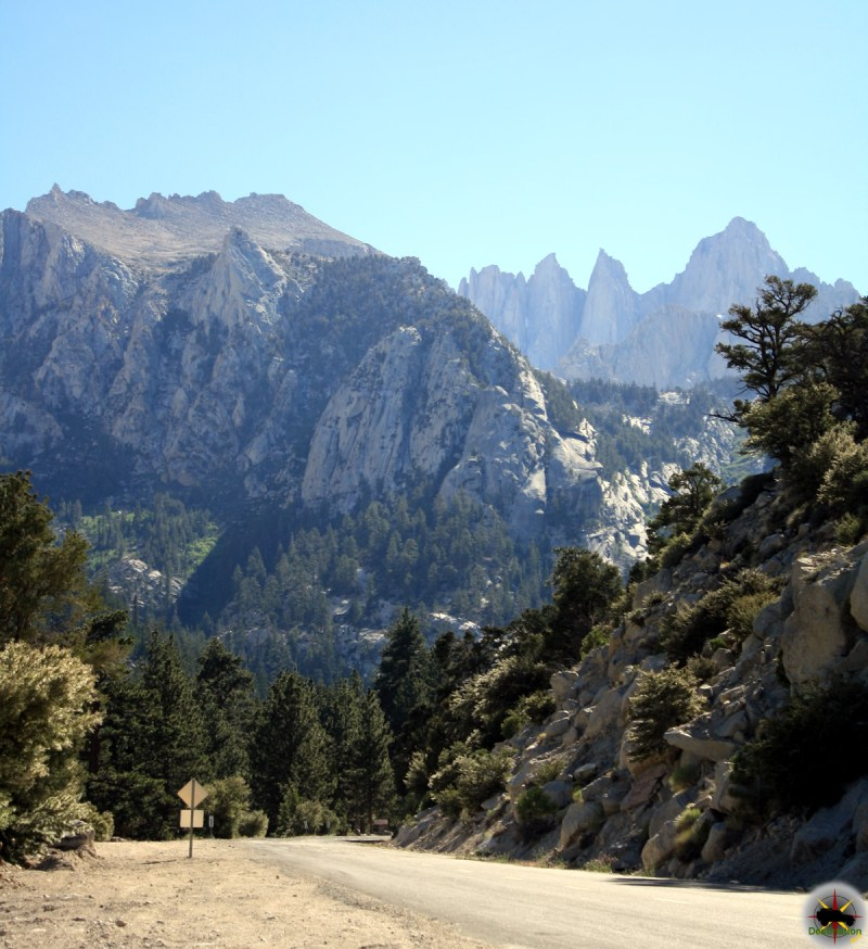 Mt Whitney looms large over the High Sierra, out site of Lone Pine, California