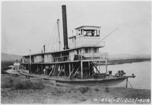 View showing steamboat Cochan on the Colorado River near Yuma, Arizona in 1900 - U.S. National Archives and Records Administration