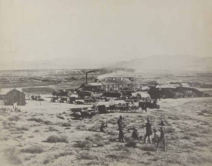 Smelting Works. Oreana, Nevada. ca. 1857 by Timothy H. O'Sullivan - U.S. National Archives and Records Administration