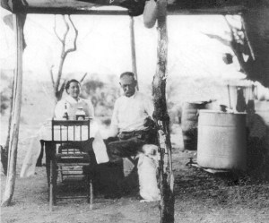 Wyatt and Josephine Earp in the Lucky Day Mine mining camp near Vidal, California: This is the only confirmed picture of the two of them together.