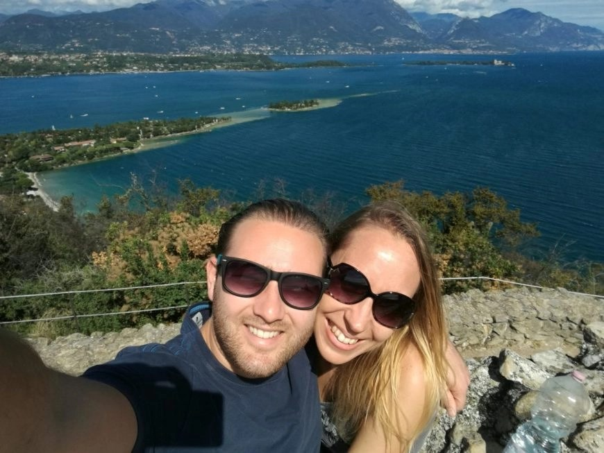Enjoying the stunning views from La Rocca Manerba