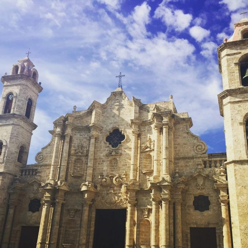 The Dominating Catherdral at Plaza De Catedral in Old Havana