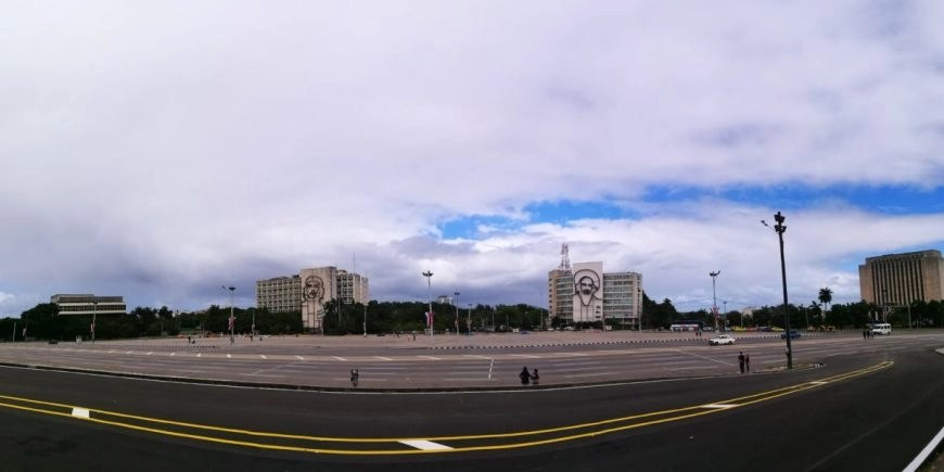 The Plaza De La Revolucion in Havana, a symbol of the revolution in Cuba
