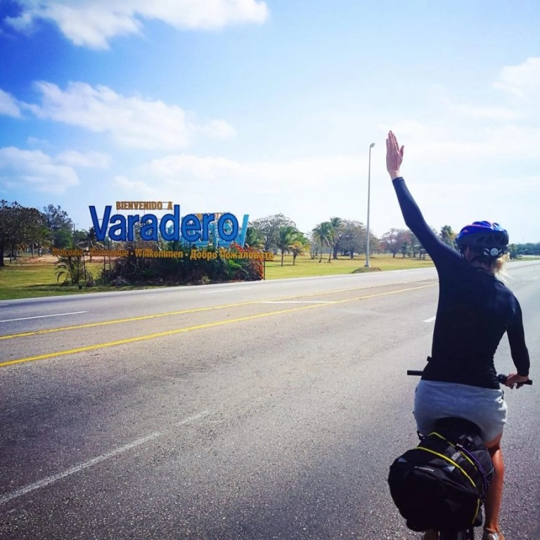 Destination Addict - Elated to arrive in Varadero, Cuba after a short but challenging cycle against the wind