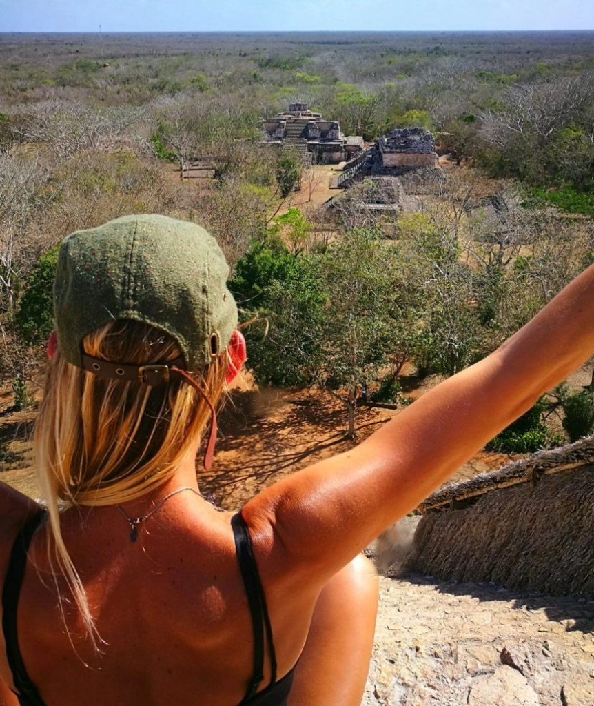 Destination Addict - Enjoying the views at the ruins of Ek Balam, Mexico