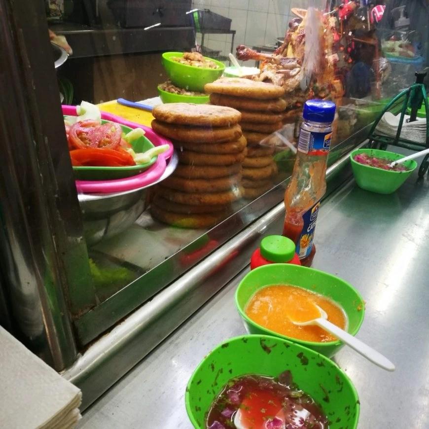 Destination Addict - Sampling some delicious Sabultes at Merida's street food market