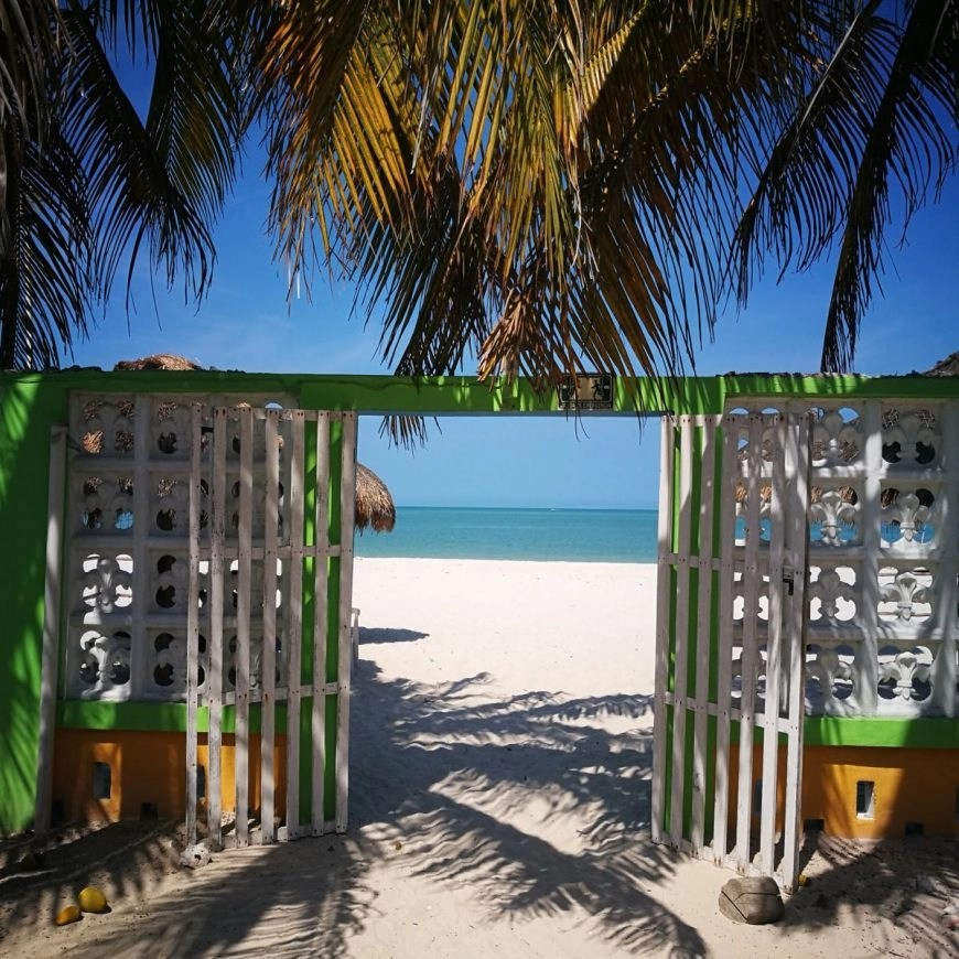 Destination Addict - Right out of bed & onto the beach in Celestún, Mexico