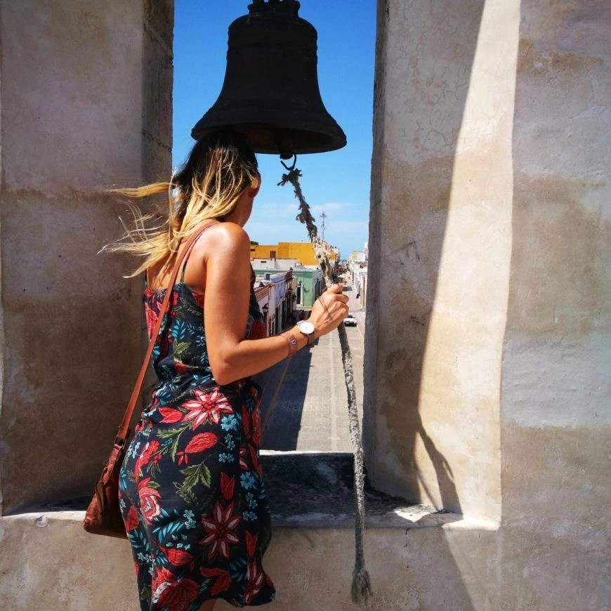 Destination Addict - Looking out from one of the Baluartes over the streets of Campeche, Mexico