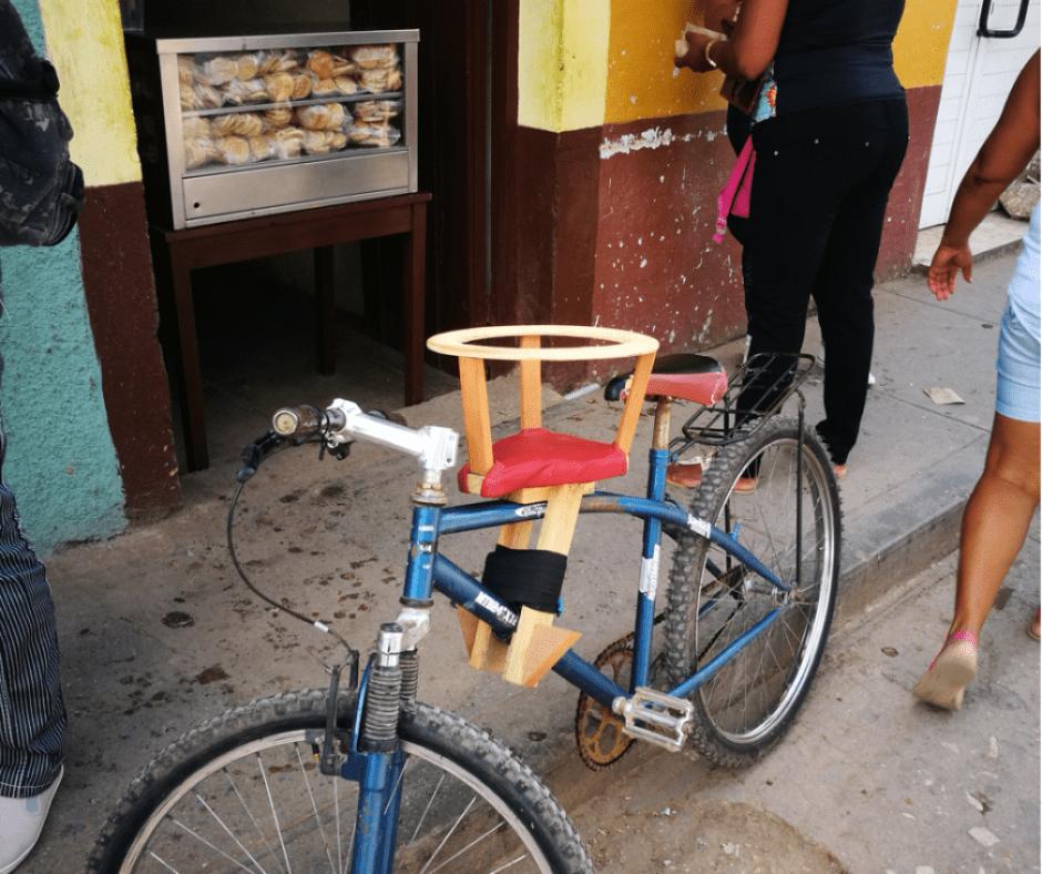 Destination Addict - Homemade baby bike seat, Mantanzas, Cuba