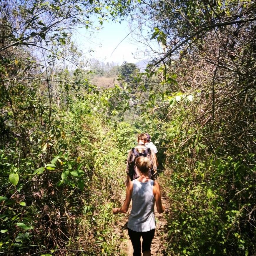 Destination Addict - Enjoying some of the more shaded parts of the hike from San Pedro La Laguna to Santa Maria, Lake Atitlan, Guatemala