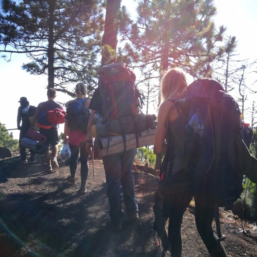 Destination Addict - Hiking with our group, Volcan de Acatenango, near Antigua, Guatemala