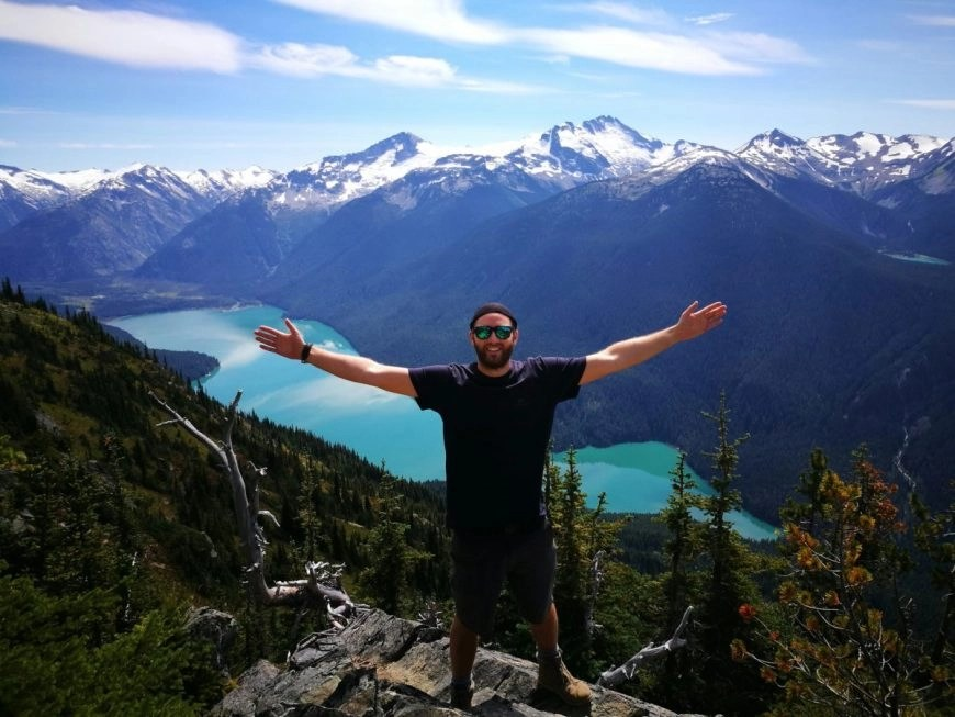 Enjoying views of Cheakamus lake from the Half Note Trail - Best hikes in Whistler