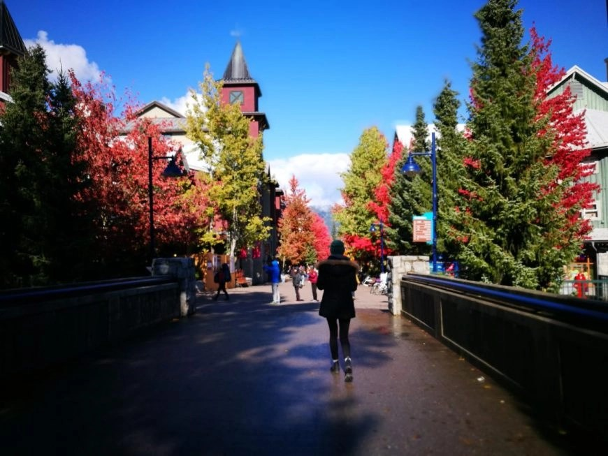 Destination Addict - Wandering through Whistler Village during the fall