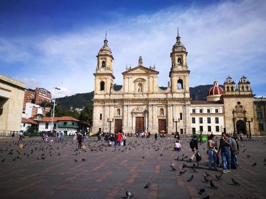 Destination Addict - Hanging out at Plaza Bolivar, Bogota's main square, Colombia