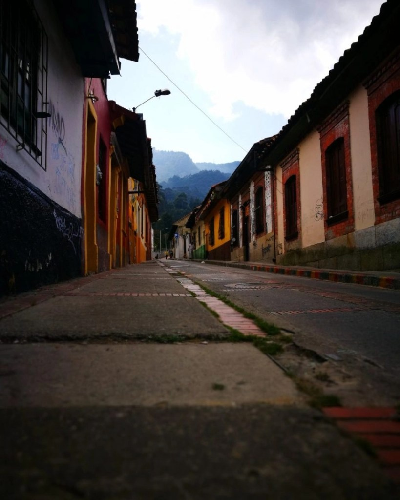 The grimy but pretty colonial streets of La Calendaria - In our opinion the best area to stay in Bogota