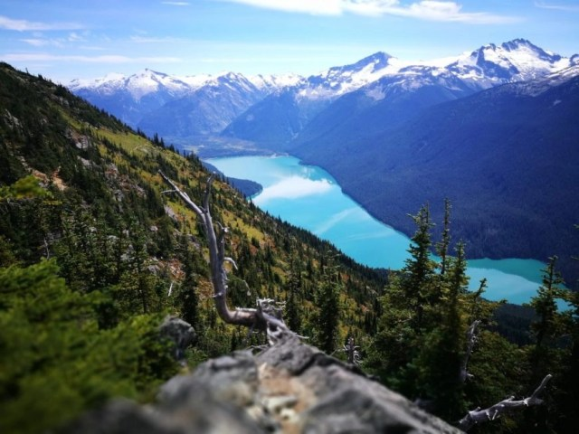 Canadian Lakes - View from above Cheakamus Lake