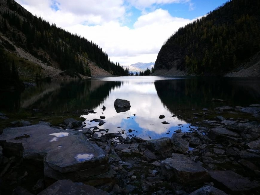 Destination Addict - Back of Agnes Lake on the way up to Big Beehive, Alberta, Canada