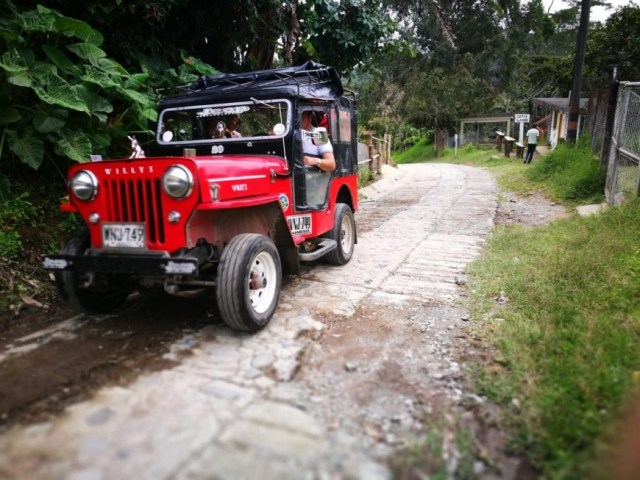 A Willy's Jeep; the main form of transport in Salento, Colombia