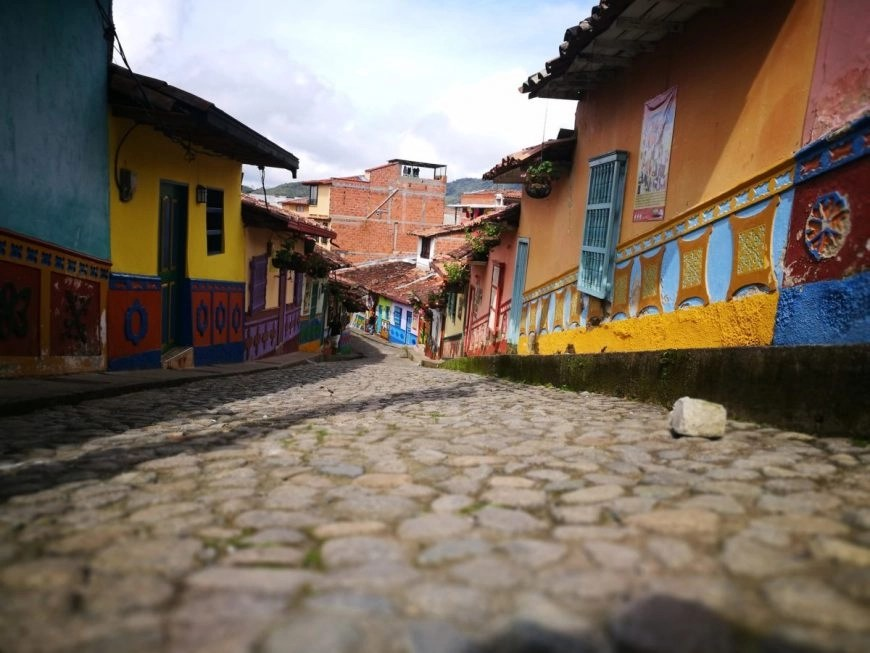 Destination Addict - Cobbled streets & colourful colonial buildings, Guatape, Colombia