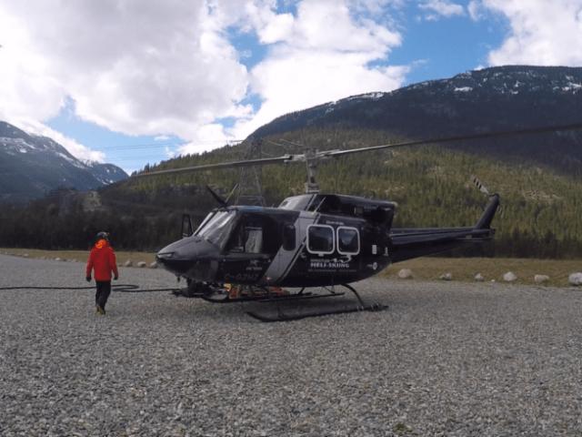 Our chopper at Whistler heli ski