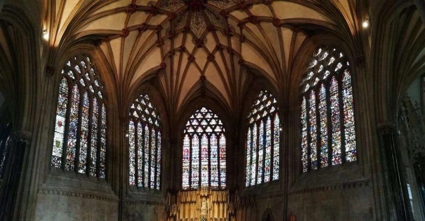 Wells Somerset, UK  -Destination Addict - Stunning stained glass, Wells Cathedral