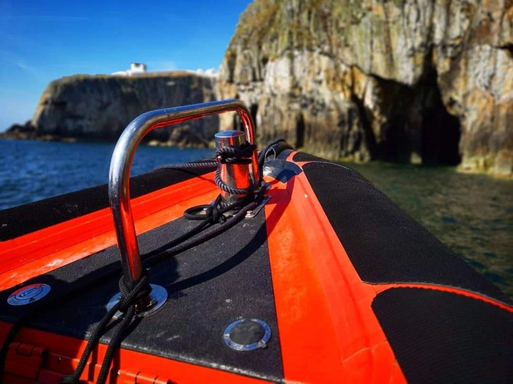 Anglesey boat trips - Exploring caves with Rib Ride Anglesey - Skerries Tour
