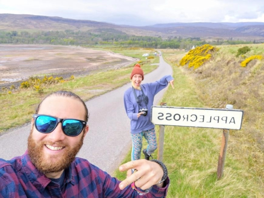 Quick selfie to show our friend we made it to Applecross, NC500 – An Epic Itinerary For Scotland's North Coast - Destination Addict