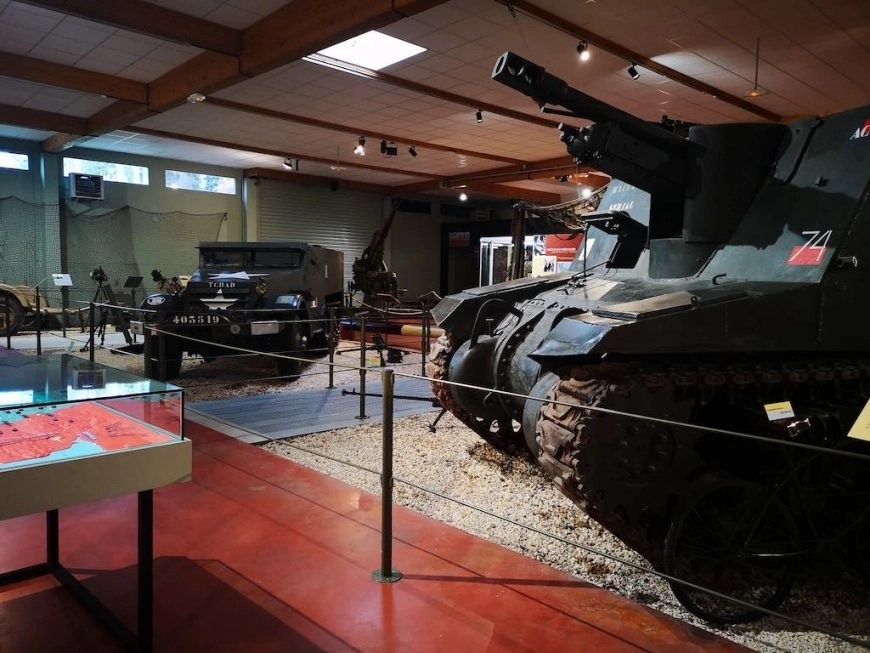 World War Two equipment inside of The Museum Of The Battle Of Normandy, Bayeux France - Destination Addict