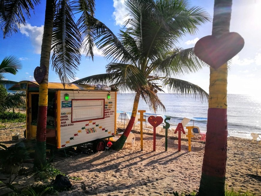 Beach bar on San Andres Island - Places to visit for your Colombia travel itinerary