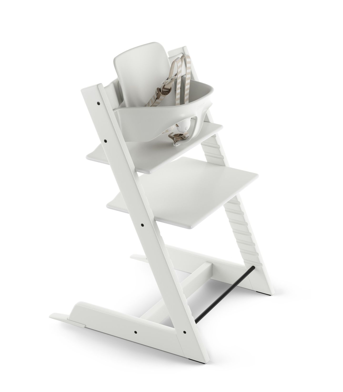 stokke chair harness mid century modern leather desk tripp trapp baby set with white destination