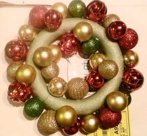 Dollar Tree Ornament Wreath Assembly